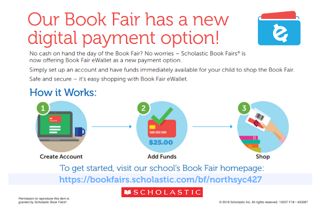 eWallets Available for Scholastic Book Fair at North Elementary