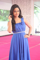 Divya Nandini stunning Beauty in blue Dress at Trendz Exhibition Launch ~  Celebrities Galleries 079.JPG
