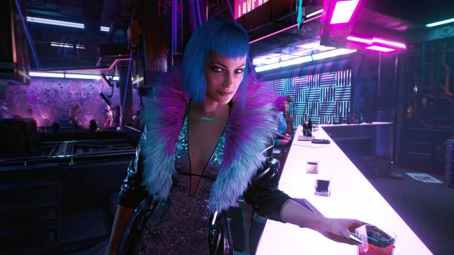 Cyberpunk 2077, Evelyn Parker, Bar, Girl, 4K, #3.2270