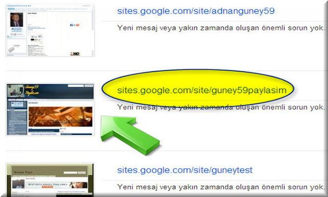 Google Sites Site Haritası Nasıl Gönderilir