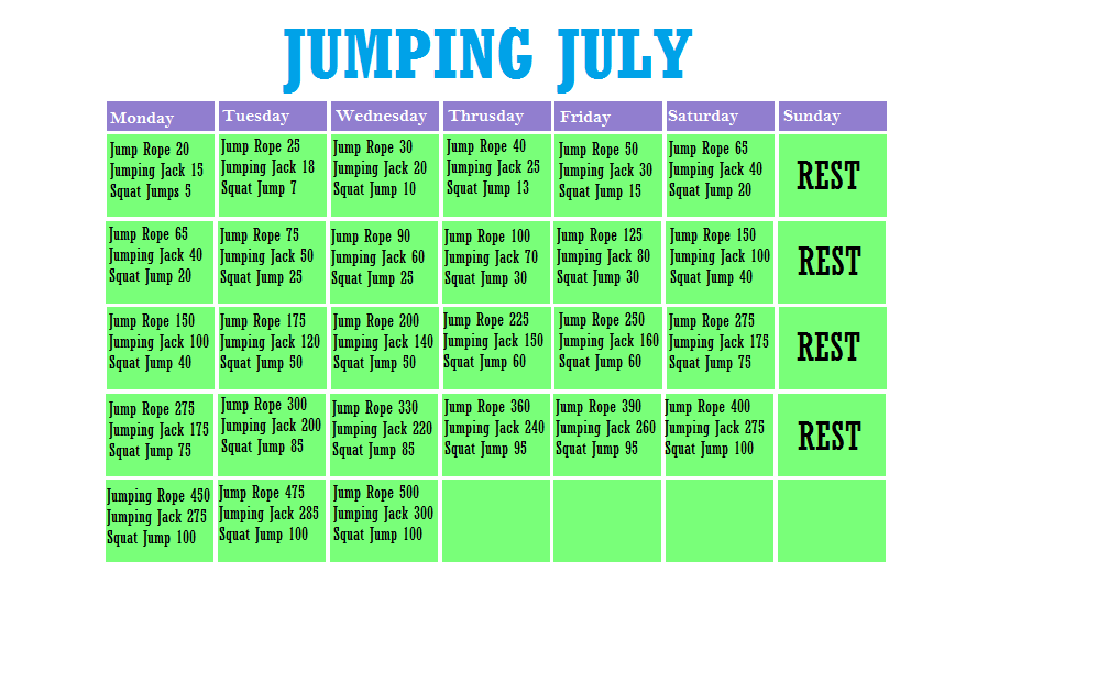 Life With Acanthaster: Jumping July Challenge