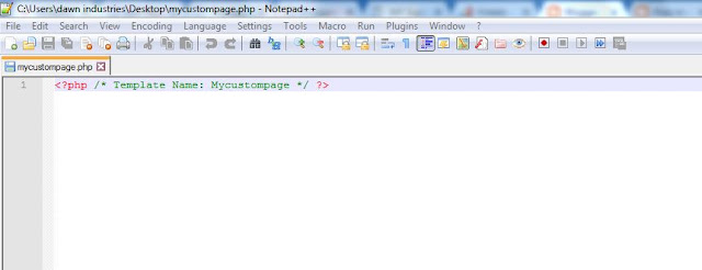 Creating Custom Page File