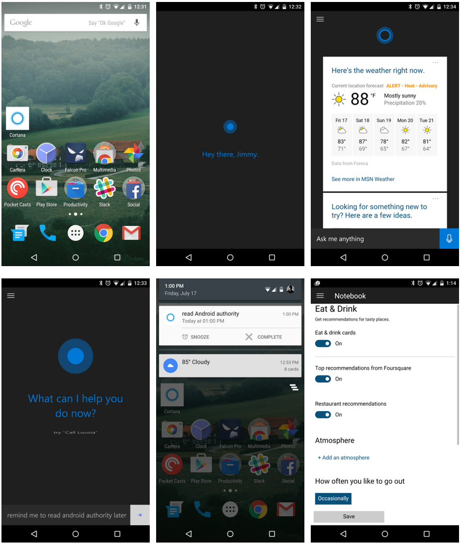 Microsoft Cortana Screenshots for Android