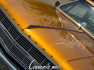 Orange Chevrolet Impala Low Rider