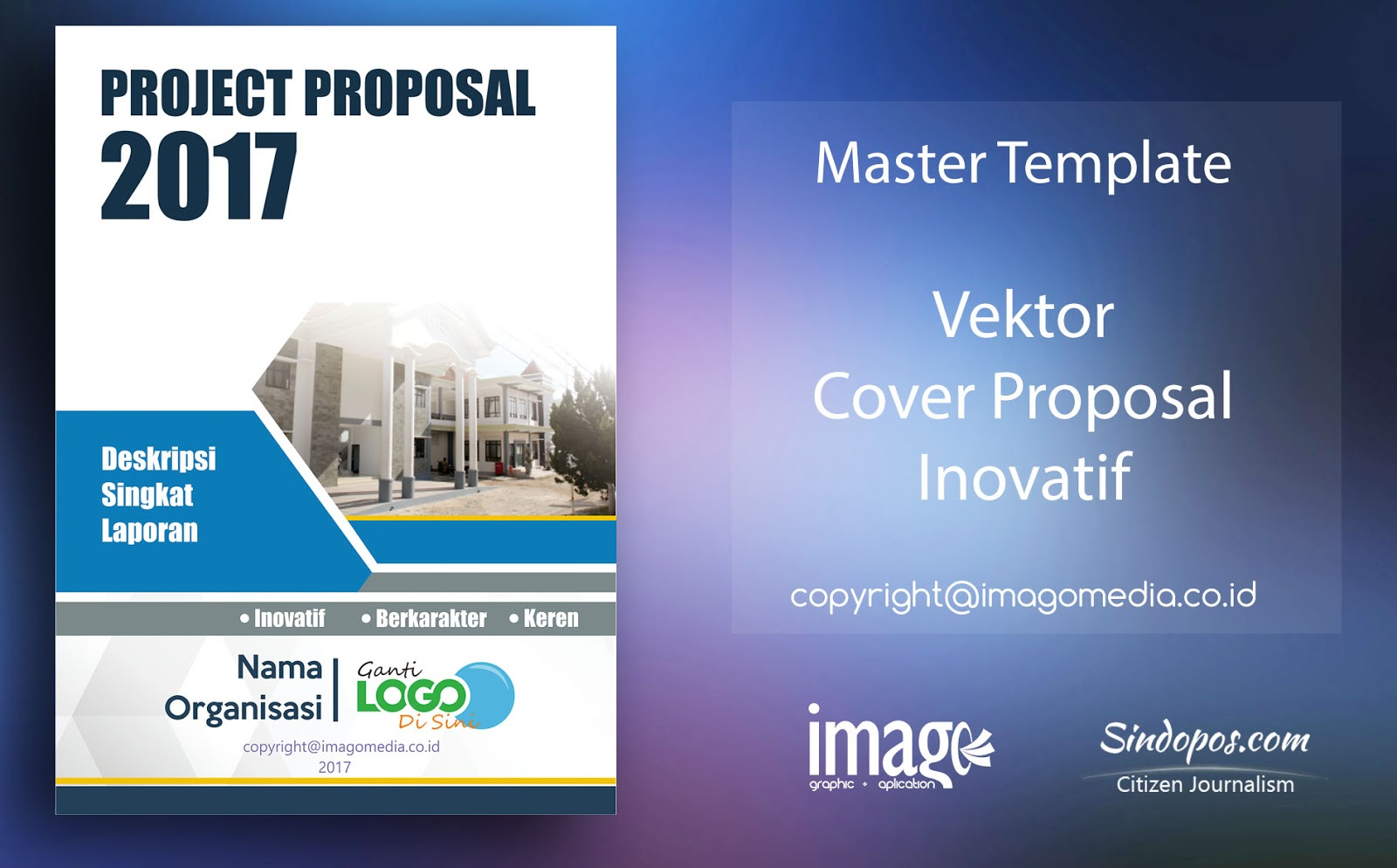 download template desain cover proposal inovatif