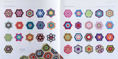 Pages 10 & 11 - 75 Colorful Hexagons to Crochet by Leonie Morgan