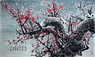 Цветущая дикая слива в китайской живописи