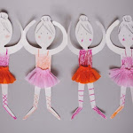 Ballerina Paper Doll Chains