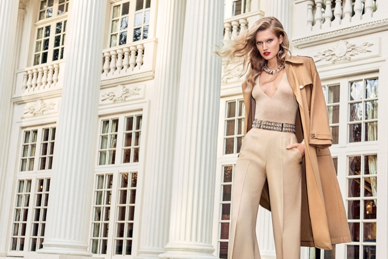 Elisabetta Franchi features German model Toni Garrn in spring 2017 advertising campaign