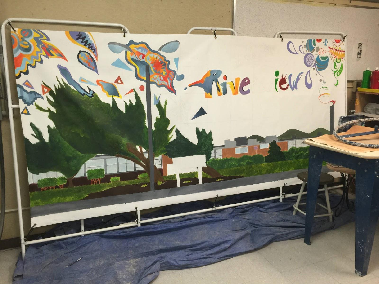 Baldauf blogart graduation mural for Poster mural 4 murs