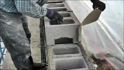 argamassa de bloco de concreto