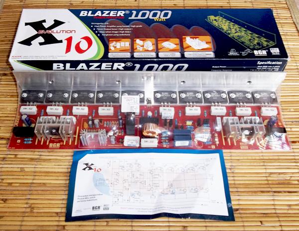 X10 Blazer Power Amplifier 1000 Watt Mono [ KIT