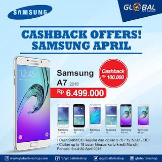 Cashback Samsung Galaxy J dan A series
