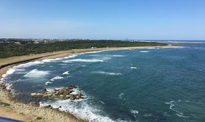 犬吠埼灯台から見る君ヶ浜