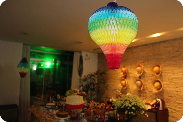 Decoração de Festa Caipira - Junina : Balão de Papel de Seda