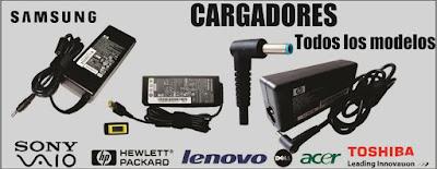 Cargador para  Laptop Asus ✔ Lenovo ✔ Dell ✔ Hp ✔ Acer ✔ Apple ✔ Sony Vaio ✔ Samsung ✔ Microsoft ✔ Toshiba.