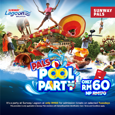 Sunway Lagoon Pals Pool Party Tuesday Discount Promo