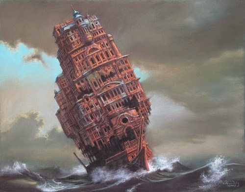 09-Navigopolis-Marcin-Kołpanowicz-Painting-Architecture-in-Surreal-Worlds-www-designstack-co