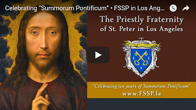 "Celebrating ""Summorum Pontificum"" • FSSP in Los Angeles"