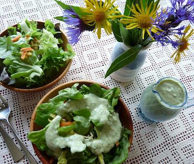 Sorrel, Chive & Mustard Salad Dressing