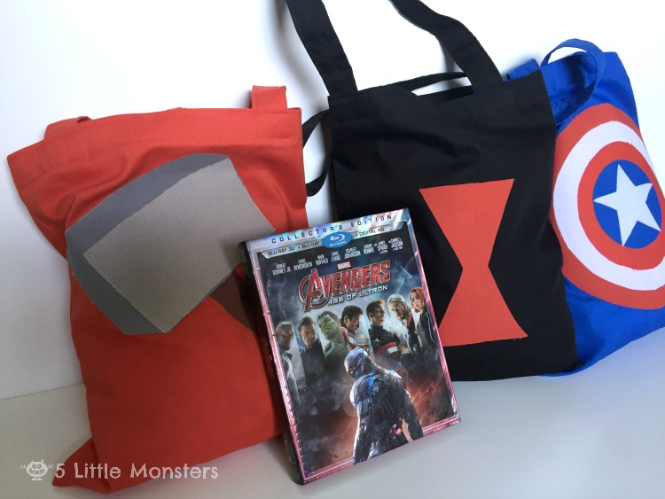 Tutorial for Avengers: Age of Ultron Trick or Treat Bags including: Thor, Captain America, Black Widow