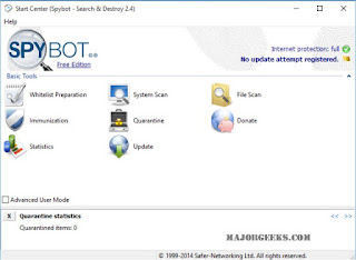 افضل, مكافح, لبرامج, وملفات, التجسس, بجميع, أنواعها, Spybot, اخر, اصدار