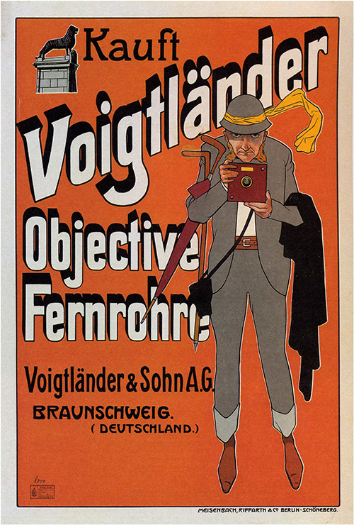 Voigtlander Camera - Vintage Advertising Poster, advertising, classic posters, free download, free posters, free printable, graphic design, printables, retro prints, vintage, vintage posters, vintage printables