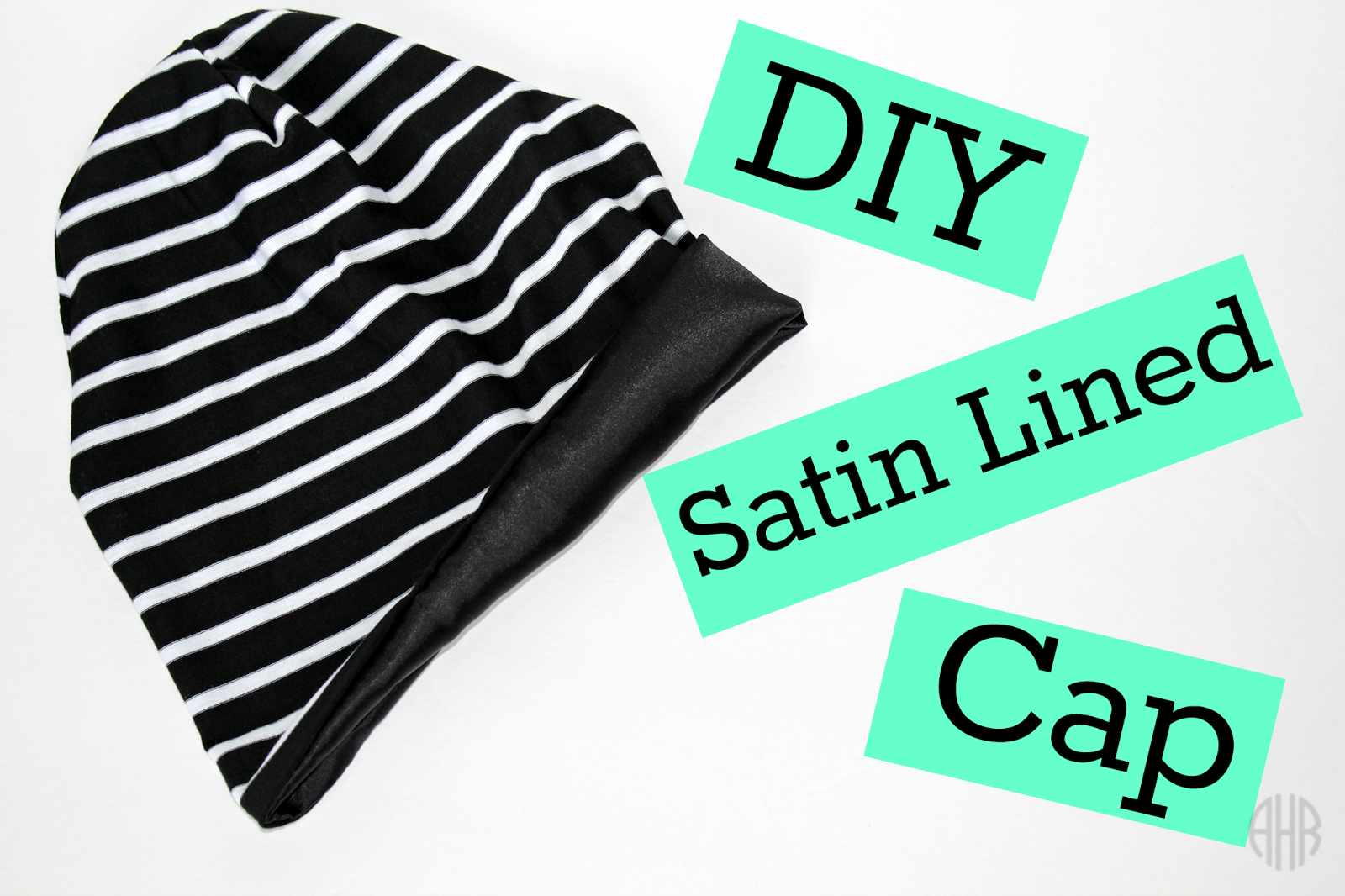 DIY Satin Lined Cap (Free Pattern Printable)  6b4f0b87dad