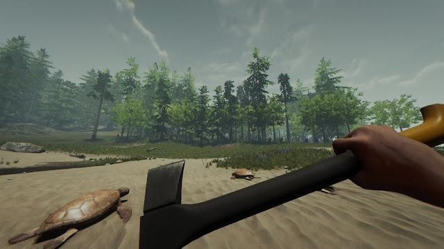 Hướng dẫn tìm rìu sắt màu đen Modern Axe trong The Forest