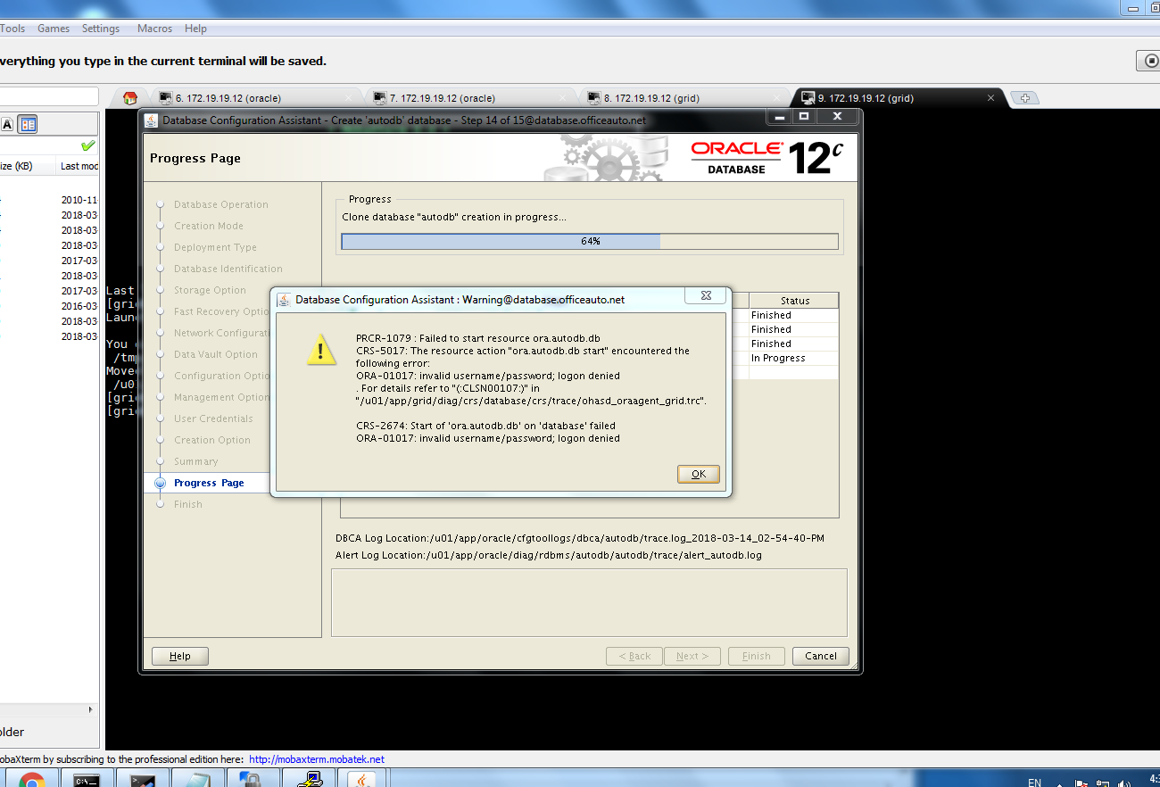 ORACLE Expert DBA Blog: ORA-01017: invalid username/password