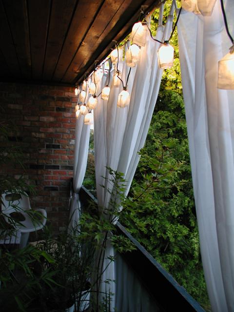 Iga Berry Balcony Interior Design Curtains
