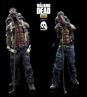 The Walking Dead Michonne's Pet Zombies 1:6 Scale Action Figures by Threezero - Red and Green Editions