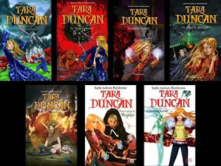 Tara Duncan book series books one through eight covers Europe
