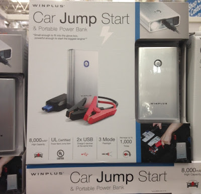 Never get stuck in the middle of no where with the Winplus Car Jump Start & Portable Power Bank