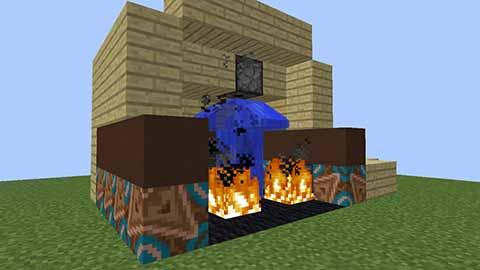 マイクラの自動消火器装置(スプリンクラー)画像