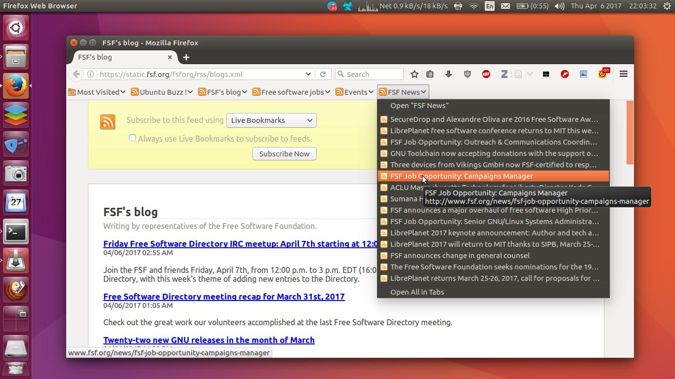 List of Desktop RSS Reader for Ubuntu & GNU/Linux