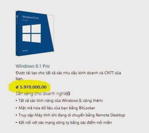 win 8 bản quyền của microsoft