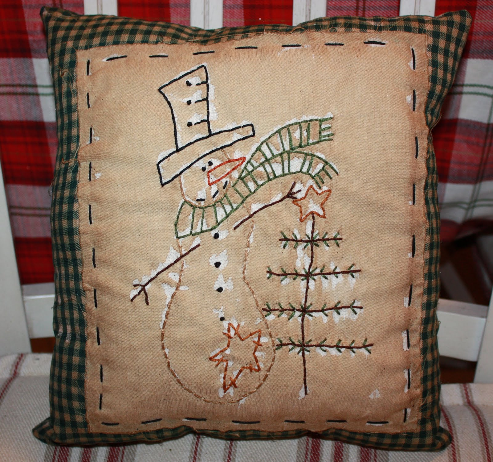 Tinas Primitive Attic Prim  Shabby Country Pillows