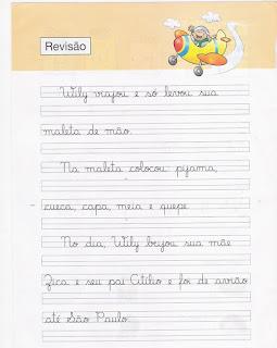 Caderno de Caligrafia - Revisão de atividades de caligrafia