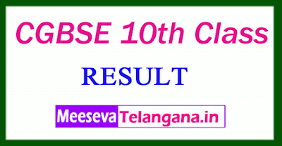 CGBSE 10th Class Result