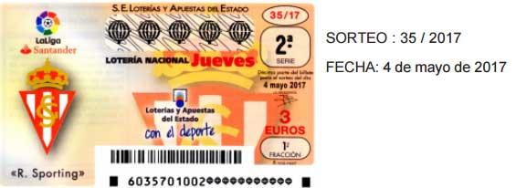 sorteo 35 de la lotería nacional del jueves 4 de mayo de 2017