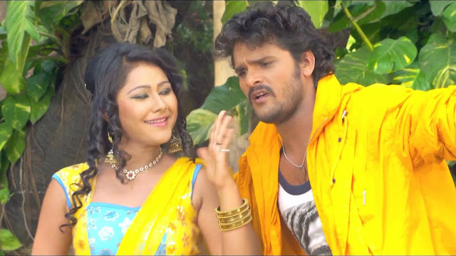 Bhojpuri Actor Khesari Lal Yadav and Actress Priyanka Pandit HD wallpaper