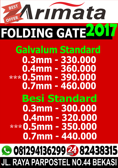 gambar folding gate kenari