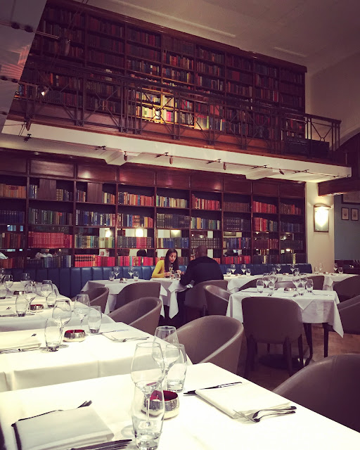 Library restaurant at The Cinnamon Club, Westminster