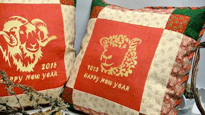 Рождественские подарки: Баран и Барашка, Баран и Овца - набор декоративных подушек для гостиной или детской комнаты