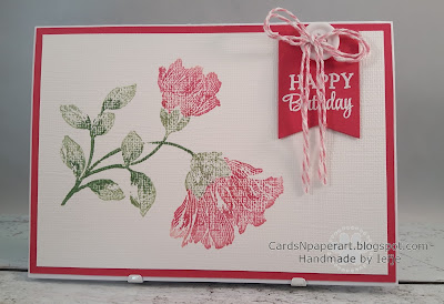 Penny Black Noble stamp, SU markers and Bazill white cardstock