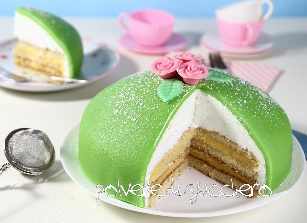 dolcidee cameo paneangeli cake design polvere di zucchero tutorial passo a passo princess cake prinsesstårta ricetta torta della principessa