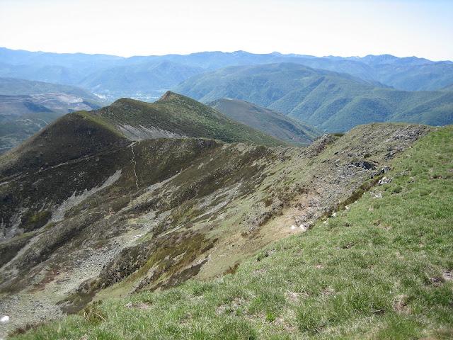 Rutas Montaña Asturias: Vista del camino que seguimos al Cueto Arbás