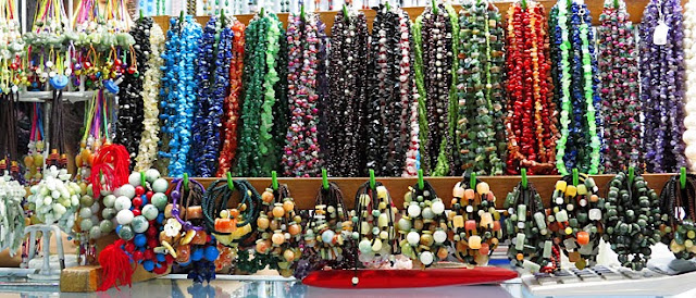 Inexpensive ethnic Myanmar jewellery made from semi precious stones