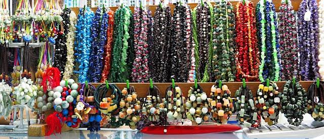Inexpensive ethnic Myanmar jewellery made from semi precious stones